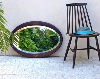 Beveled oval former mirror - old oval mirror