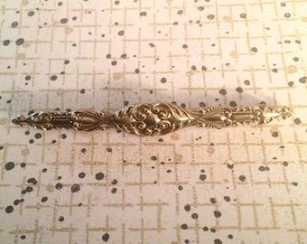 Art Deco brooch, vintage brooch, art nouveau brooch, antique brooch, costume brooch, gold tone brooch