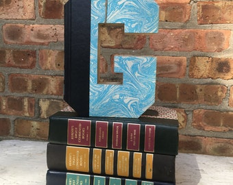BOOK LETTER G..Custom Made Just For YOU!!!!  Letters created from actual Hardcover Books!