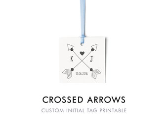 Arrow Initials Etsy
