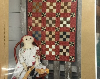 Primitive Patchworks MOLLYS PINWHEELS and 9 Patches quilt pattern