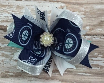 Seattle Mariners Inspired Hair Bow