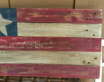 Rustic Pallet Flag  - Handcrafted