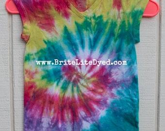 Tie Dye Girls Youth T Shirt YOUTH SMALL (6-6X)-Junior-Children's Clothing-Tie Dye Clothing-Heart-Hippie-Hippy-Boho-Tye Dye-Tiedye-Dyed