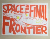 Starship Enterprise Illustration - Riso Print