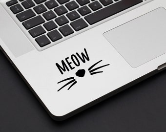 Meow Kitty Decal - Vinyl Decal, Laptop Decal, Car Sticker