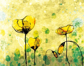 Yellow Poppies Greeting Card 02