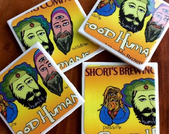 Short's Brewing Company Good Humans Beer Coasters
