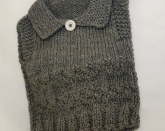 hand knitted vest suit 1-2 year old
