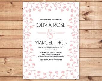 Modern Wedding Invitation / Wedding Announcement