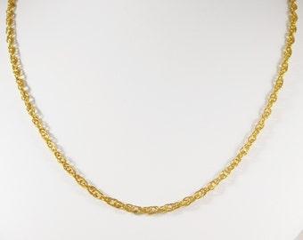14kt Yellow Gold Singapore Chain