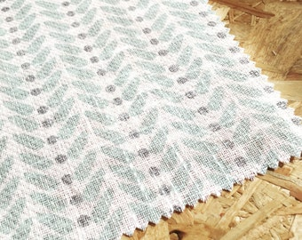 Duck Egg Blue Fabric- Linen Fabric- Curtain fabric- Retro- Upholstery Fabric- Scandinavian fabric- Blue- Boys Room- Modern Fabric- Pretty