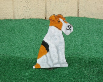 Wire Haired Fox Terrier Yard Sign