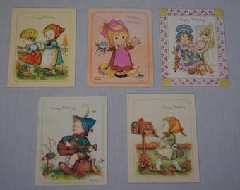 Vintage 1960's - little helpers cards the good samaritans cards , set of 5