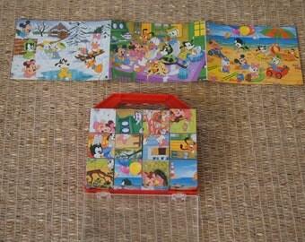Vintage  1985 - 12 Piece 6 Sided Disney Block Puzzle