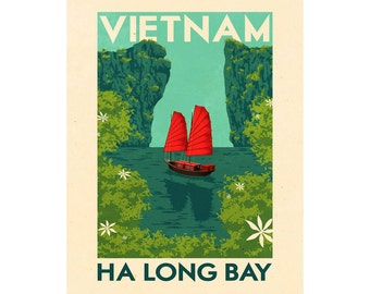 Vietnam Vintage Travel  Advertising Enamel Metal TIN SIGN Wall Plaque