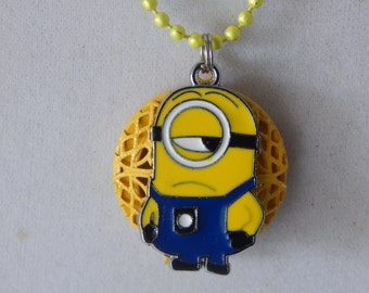Essential oil Diffuser Necklace One eyed Minion Aromatherapy Perfume Diffuser Necklace