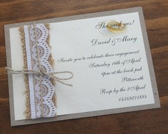 Rustic Engagement Invitation