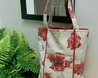 Canvas, Poppy Tote Bag