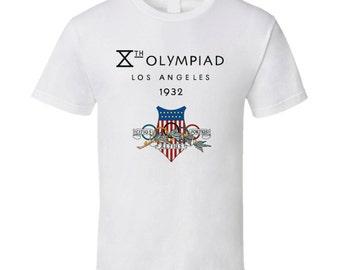 Los Angeles Olympics 1932 Logo T Shirt