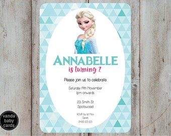 Frozen Invitation, Elsa Frozen Birthday Invitation, Frozen printable Invitation, Frozen Birthday Theme Disney Frozen Printable Invitation FZ
