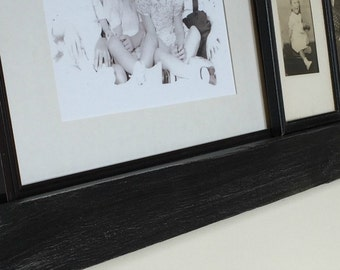 Black Floating Ledge, Picture Display Shelf,Gallery Wall Shelf,Painted Ledge made from Reclaimed Wood
