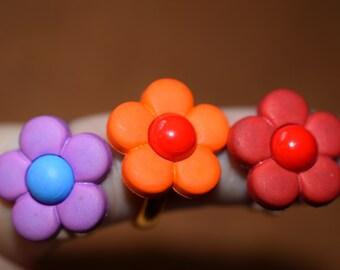 Flower Adjustable Ring