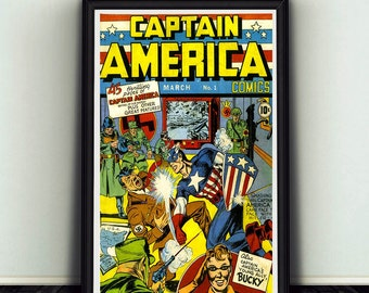 11x17 Captain America #1 Comic Book Cover Poster Print