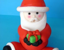 fondant Christmas Santa 3D cake topper