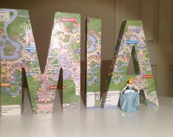 "Walt Disney World Map Letter Customized 8.25"" Tall"
