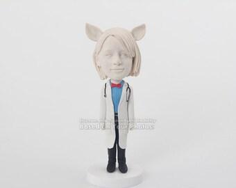Custom doll,doctor bobblehead,christmas doll,funny bobblehead for friend,birthday bobble head doll ,custom bobble head for her