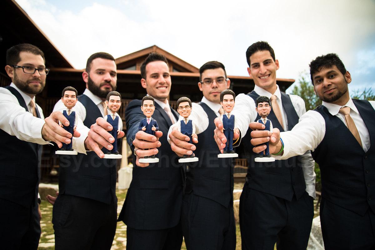 Funny Groomsmen Gift Idea Personalized Bobblehead
