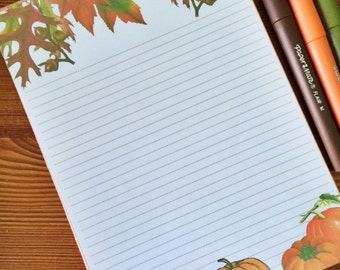 In the Pumpkin Patch- Autumn themed Stationery-Writing Paper