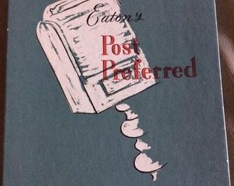 vintage stationary,Eaton's post preferred vintage stationary never used!