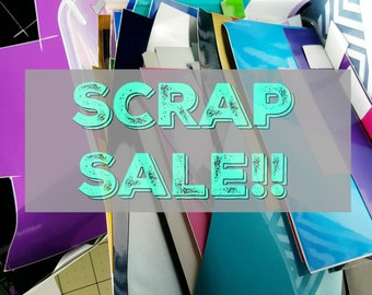SCRAP SALE: 1-inch Vinyl Monogram Decals only .99 cents!