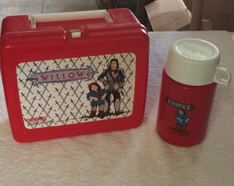 1988 Willow Plastic Lunchbox With Thermos