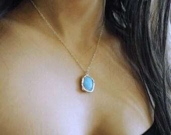 Blue Opal pendant. Opal necklace silver. Fire Blue opal. Opal Jewelry. Large Opal. Silver Opal Necklace. Opal ring Opal set. Girlfriend gift