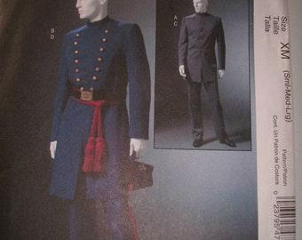 McCalls Printed Sewing Pattern ~ McCalls 4745 ~ Size S to L ~ 2004 Men's Civil War Costumes ~ Great for Civil War Reenactment!