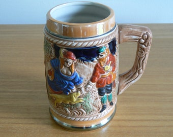 Half Litre Stein - Rather Buxom Lady and Hunter with Dog.