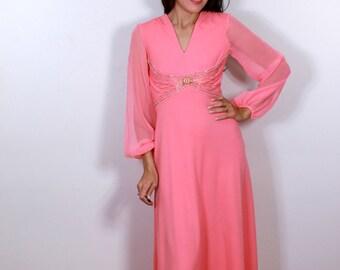 1970s Pink Genie Dream Dress