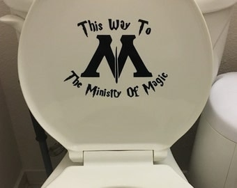 Ministry Of Magic This Way Decal Black