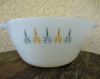 Anchor Hocking Fire King Milkglass Candle Glow Mixing Bowl