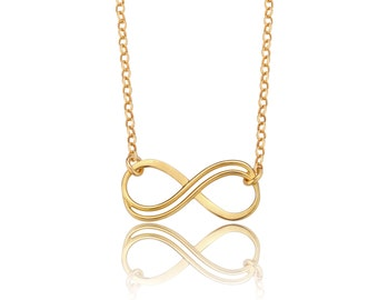 Infinity Necklace, Gold Infinity Necklace, Friendship Necklace, Gold Infinity Jewelry, Forever Necklace, Gift for Friends, BFF Necklace