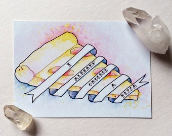 I Already Ordered a Pizza Watercolor | Print