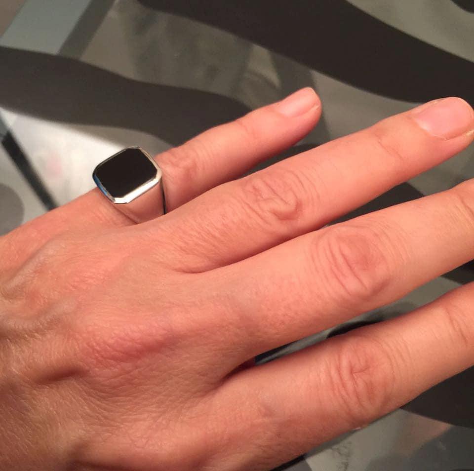 Man Wearing Ring On Pinky Finger