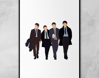 The Beatles | John Lennon | Paul McCartney | George Harrison | Ringo Starr | Minimal Artwork Poster