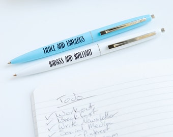 Badass and Brilliant, Fierce and Fabulous Pen Set, PS0001