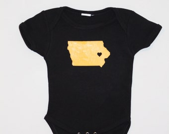 Iowa onsie or toddler shirt - Hawkeye colors