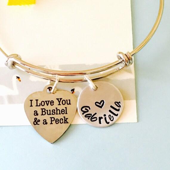 I Love You A Bushel And A Peck Necklace: I Love You A Bushel And A Peck Bracelet Love You Bracelet