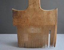 Antique wool comb 1930ies -  Wool carder - Primitives rustic decor - Vintage tool -  Wooden comb - Primitive home decor..